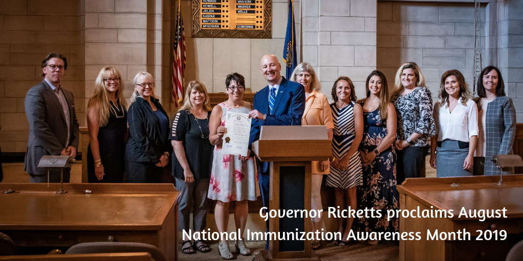 Governor Ricketts proclaims August National Immunization Awareness Month 2019 (1)